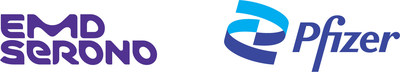 Logos EMD Serono and Pfizer (CNW Group/EMD Serono, Canada)