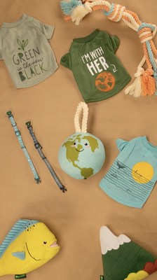 PetSmart launches the new Grrreen collection, which features toys, collars and apparel made from recycled water bottles