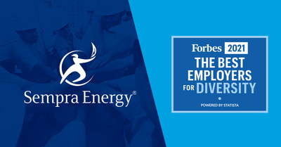 Sempra Energy Named One of 'America's Best Employers for Diversity' by Forbes