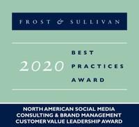 2020 North American Social Media Consulting & Brand Management Customer Value Leadership Award (PRNewsfoto/Frost & Sullivan)