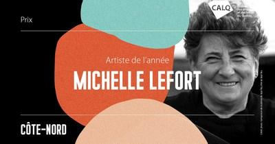 Michelle Lefort reçoit le prix du CALQ - Artiste de l'année sur la Côte-Nord. crédit : Ville de Sept-Îles (Groupe CNW/Conseil des arts et des lettres du Québec)