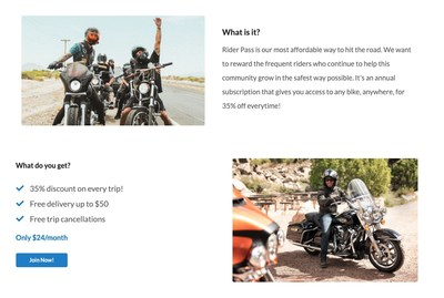 Rider Pass Subscription Service