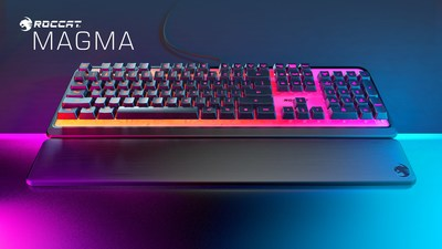 The new ROCCAT Magma Membrane RGB Gaming Keyboard features an AIMO top plate that fully illuminates in 16.8 million colors and silent membrane keys