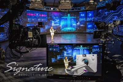Signature Production Group's XR studio in Chicago's western suburbs is powered by a Disguise media server, Mo-Sys camera tracking and Notch visual effects. SPG is an audio, video, and lighting provider for meetings and events--they primarily use XR to place live presenters into virtual environments. During the pandemic, the team built broadcast control rooms to stream live meetings to online attendees. Combining these technologies will help meet the evolving needs of the event industry.