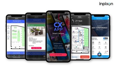With Inpixon's CXApp, companies can provide to their employees custom-branded, location-aware mobile apps that enable social-distanced desk reservations, room booking, navigation, event hosting, occupancy metrics, and other features that promote safety, productivity and employee retention.