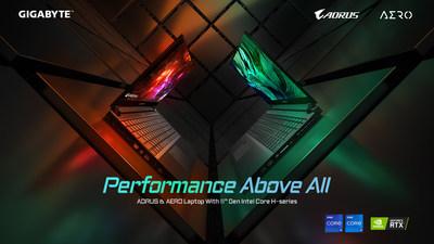 Desempenho acima de tudo -- A GIGABYTE lançou novos laptops com processadores da Intel de 11ª geração e alto desempenho