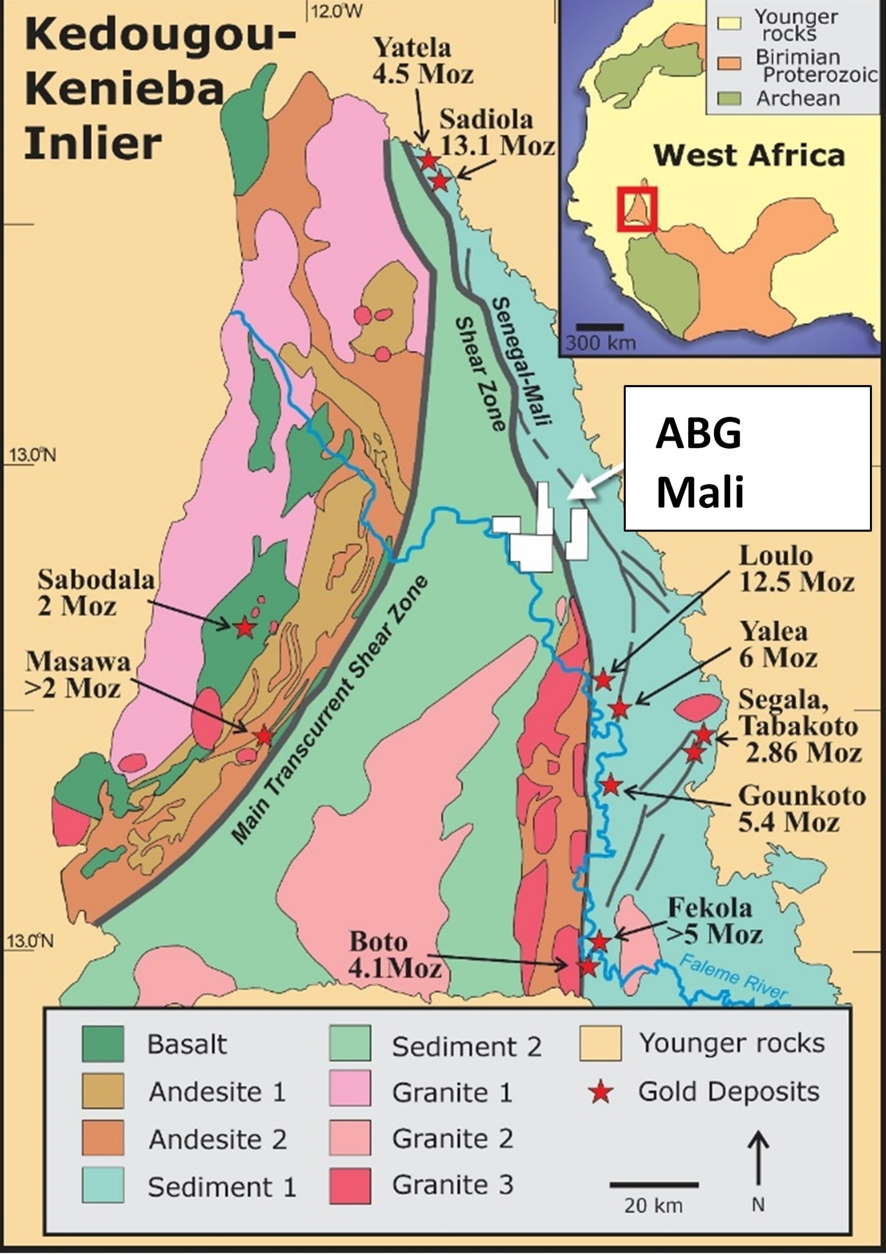Figure 1: ABG Mali Property Location (CNW Group/Galiano Gold Inc.)