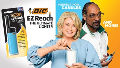 Snoop Dogg and Martha Stewart agree – the BIC® EZ Reach™ lighter is the ultimate lighter for candles, grills and everything in between