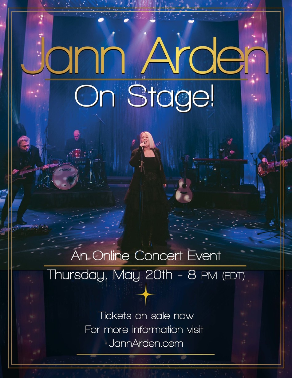 Today, multi-platinum award-winning singer, songwriter, actor and author Jann Arden announces her livestream event, Jann Arden On Stage, set for May 20 at 5 p.m. PDT / 8 p.m. EDT. Tickets for Jann Arden On Stage are on sale now at JannArden.com with additional options that will give fans access to an exclusive VIP meet & greet, limited edition commemorative merch, and more.