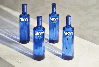 SKYY Vodka unveils innovative new liquid twist, now made from water enriched with Pacific minerals. Inspired by the coastal waters surrounding San Francisco, these minerals impart a subtle salinity and minerality to the liquid, intended to enhance the mouthfeel and fresh taste of the vodka + soda. SKYY's refreshed packaging design is also inspired by the natural beauty of the San Francisco Bay Area. The new bottle is a lighter, more natural blue tone, with ripples and ridges that reflect the wav
