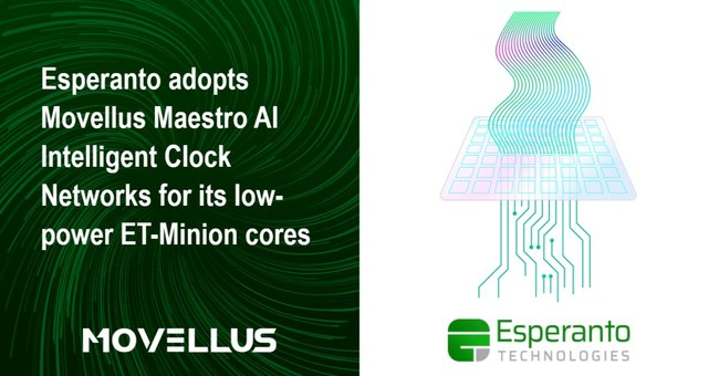 """""""The Maestro AI intelligent clocking solution was essential in enabling us to achieve breakthrough power efficiency."""" Art Swift, President and CEO of Esperanto"""
