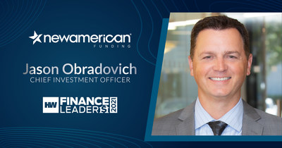 New American Funding's Jason Obradovich Named HousingWire's 2021 Finance Leader