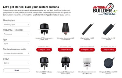 The Taoglas Custom Antenna Configurator is now available on DigiKey.com