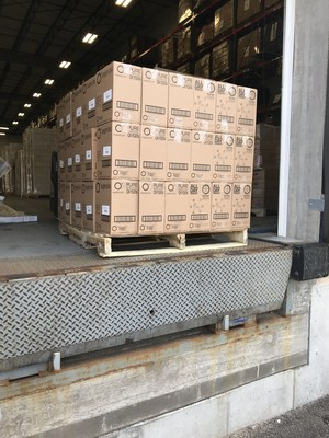 Oxygen Plus O+ Biggi canisters, each containing 220+ breaths of oxygen, donated and shipped to India amidst COVID-19 crisis.