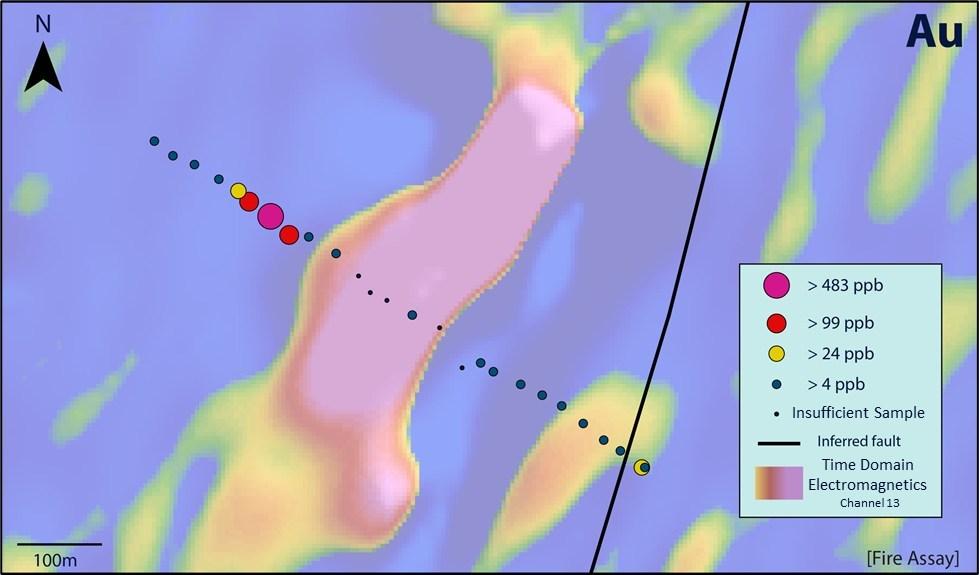 Figure 3 - Lakeview Gold in Soil Geochemistry (CNW Group/Stuhini Exploration Ltd.)