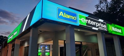Filial de três marcas da Enterprise, Rent-A-Car, Alamo Rent A Car e National Car Rental, em Cebu, Filipinas, faz parte do investimento contínuo da empresa na APAC