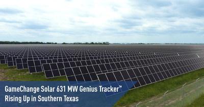 Le système Genius Tracker(MC) 631 MW de GameChange Solar s'implante dans le sud du Texas (PRNewsfoto/GameChange Solar)