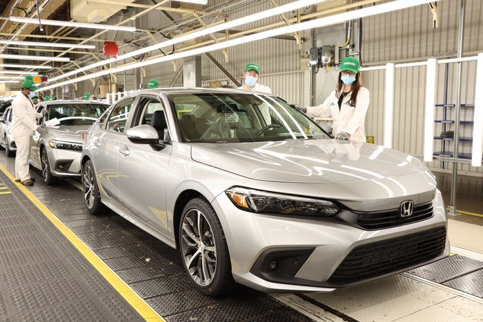 全新2022家本田市民轿车开始于加拿大生产