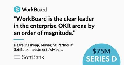 SoftBank Vision Fund 2 lidera a rodada de Série D da WorkBoard (PRNewsfoto/WorkBoard)