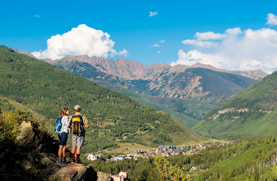Hiking above Vail, Colorado in the summer.
