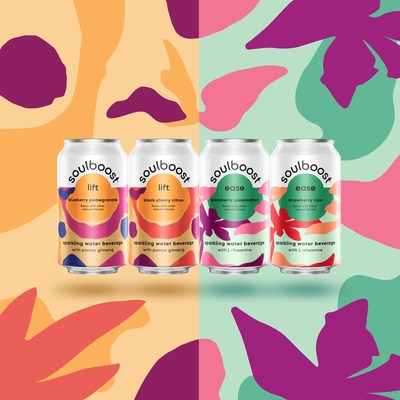 Soulboost launches with two varieties: Lift with panax ginseng to help support mental stamina and Ease with L-theanine to help support relaxation.