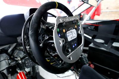 Hyundai Veloster N TCR car hand controls.