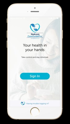 The CareGuidePro™ sign-in page