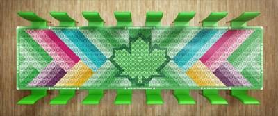 Sobeys Inc. Feed The Dream Tablecloth (CNW Group/Sobeys Capital Incorporated)