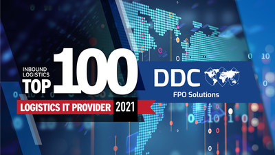 """""""DDC FPO was selected because its solutions solve specific challenges, improve processes, and create a ripple effect of efficiencies across the entire value chain,"""" said Felecia Stratton, Editor of Inbound Logistics."""