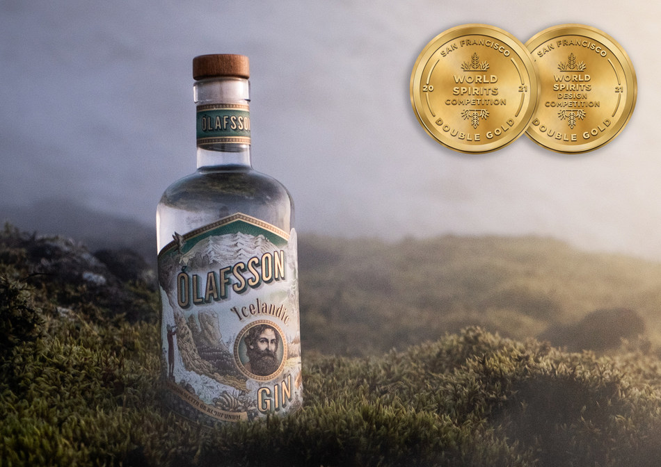 Olafsson Gin wins 2 Double Gold Medals at the 2021 San Francisco World Spirits Competition