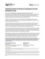 Siegfried Kiefer to Retire as Canadian Utilities President & CEO (CNW Group/Canadian Utilities Limited)