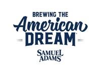 Samuel Adams Brewing the American Dream Logo