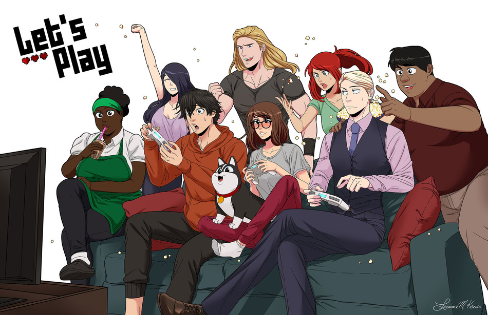 Los Angeles-based production company Allnighter to adapt creator Leeanne M. Krecic's hit webcomic, LET'S PLAY, as a live-action television series. (Art: Krecic)