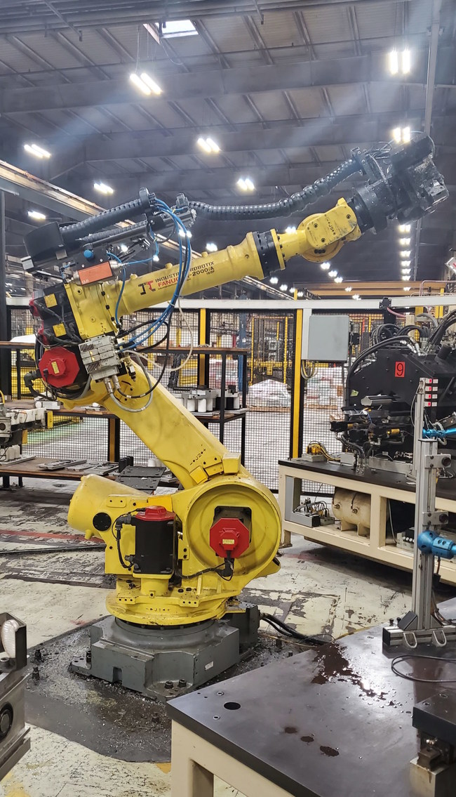 Other assets up for bid include approximately 40 material-handling robots, including this 2011 model from Fanuc.