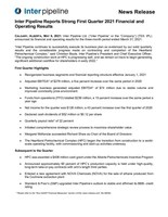 Inter Pipeline Reports Strong First Quarter 2021 Financial and Operating Results (CNW Group/Inter Pipeline Ltd.)