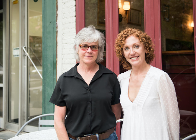 Red Tail Ridge Winery Founder Nancy Irelan and Sara Moll, Vin Social Founder and CEO.