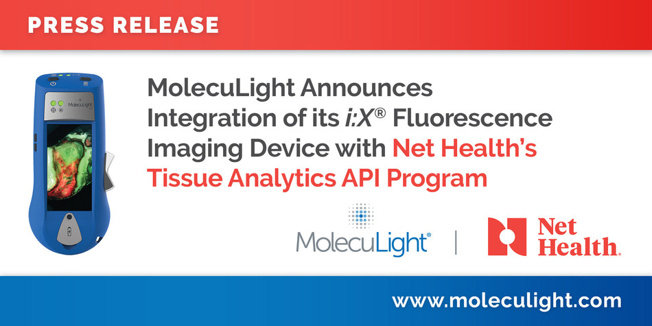 MolecuLight Announces Integration of its i:X® Fluorescence Imaging Device  with Net Health's Tissue Analytics API Program (CNW Group/MolecuLight)