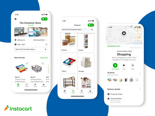 Instacart and The Container Store partner to launch same-day delivery nationwide
