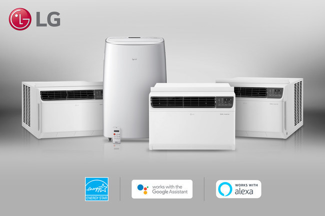 The first in the United States to introduce variable-speed compressor room air conditioners, LG offers a portfolio of both window and portable units that deliver quiet, advanced cooling with a 40 percent improvement in energy efficiency on its best-performing model.
