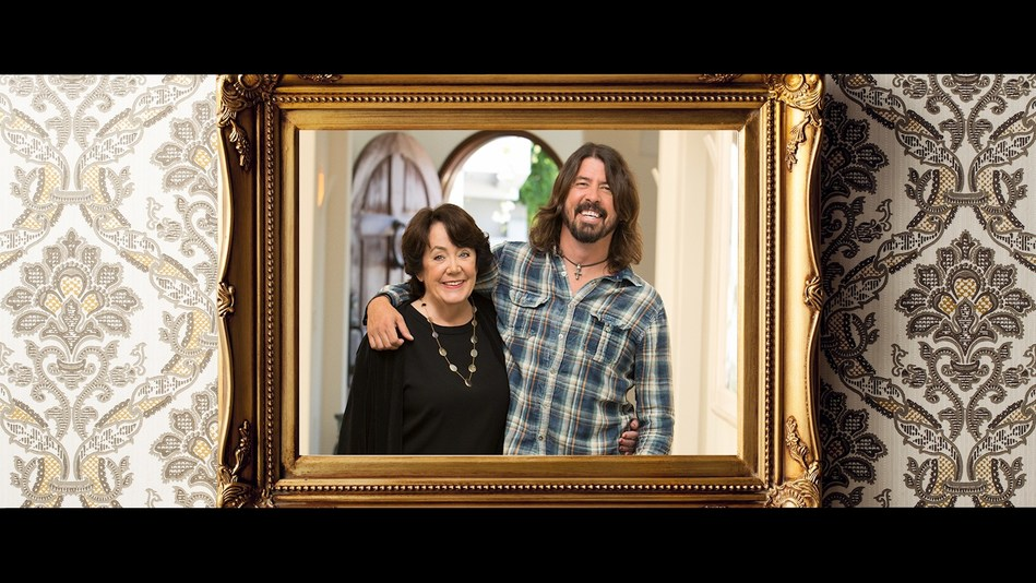 """Foo Fighters' Dave Grohl with his mother Virginia Hanlon Grohl, as part of Ram brand's """"Spotlight' advertising campaign shining a spotlight on everyday rock stars.  Photo Credit: Michael Elins"""