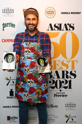 Coa In Hong Kong Is Named The Best Bar In Asia (PRNewsfoto/Asia's 50 Best Bars 2021)