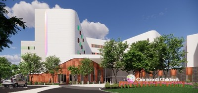 Exterior rendering of new College Hill mental health facility under construction at Cincinnati Children's