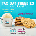 Tax Day Freebies Are Back! Great American Cookies® and Marble Slab Creamery® to Treat Customers to Free Cookies and Ice Cream on Tax Day (Monday, May 17)