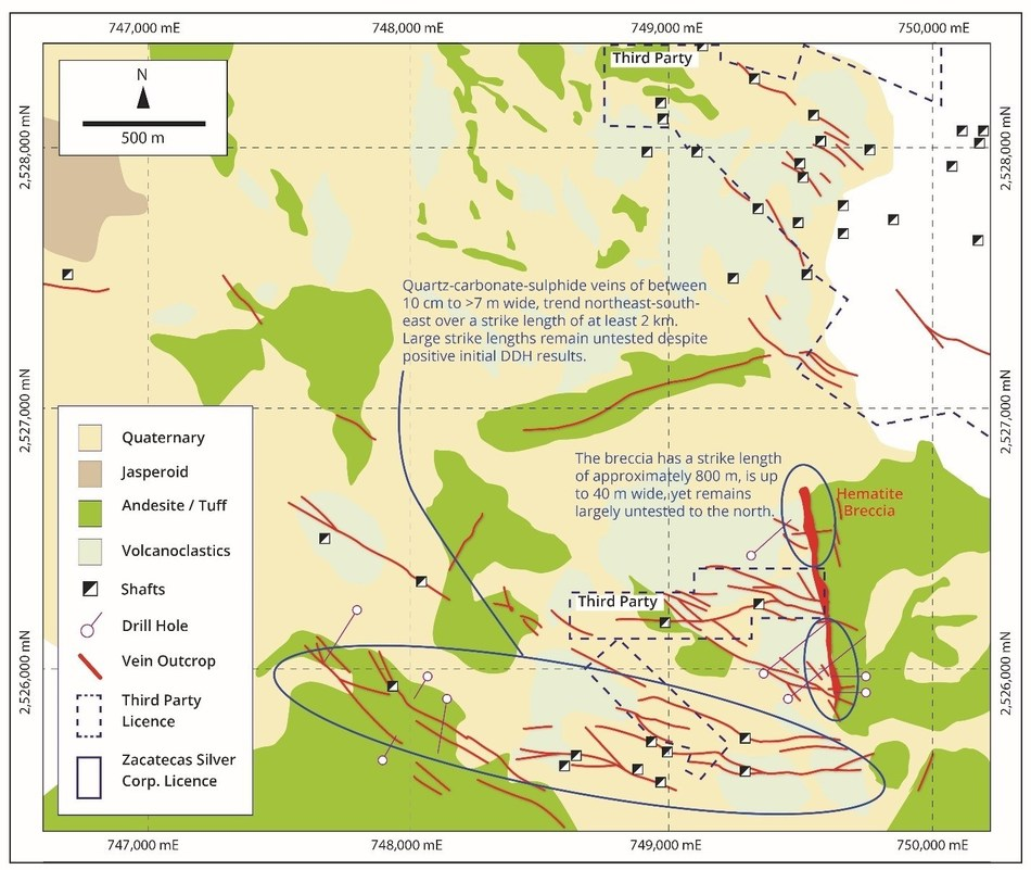 Figure 2 – San Manuel-San Gill System (CNW Group/Zacatecas Silver Corp.)