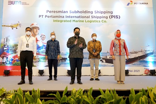 Minister of State-Owned Enterprises, Erick Thohir Announces PT Pertamina International Shipping as the Company's First Subholding Shipping Company.