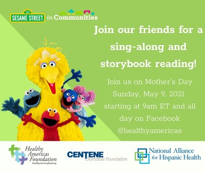 Join Us for a Sesame Street in Communities® Sing-a-long, Storytime, and Dance Exercise In Celebration of Mother's Day