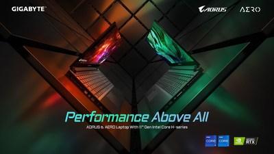 Pré-vendas de Laptops da GIGABYTE batem recordes sem precedentes impulsionadas por processadores Tiger Lake Hype