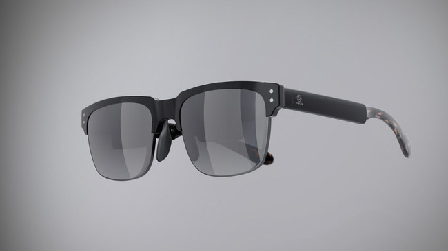 Innovega's eMacula system features lightweight, stylish eyeglasses which incorporate a high-performance AR/VR display as shown in this design rendering.