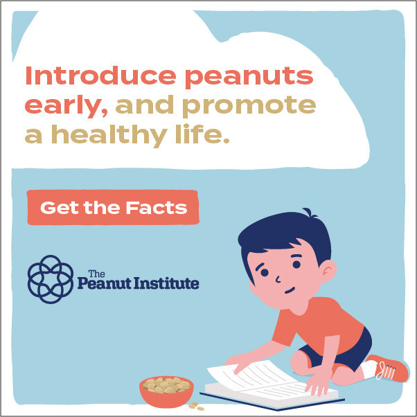 During the critical birth to 24 months period, the Dietary Guidelines for Americans 2020-2025 address the beneficial role nuts/peanuts can play in the development and growth of a child's brain and body.