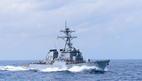 Gibbs & Cox-designed DDG-51 Arleigh Burke-class destroyer at sea
